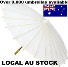30PCS WHITE PAPER UMBRELLA WEDDING PARTY DIY PAINTING CHINESE Decor Dance 60CM