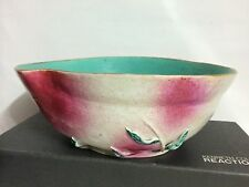 Rare Antique Chinese Peach Form Famille Rose Porcelain bowl,