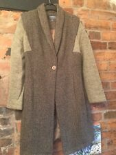 Limited Collection Tweed And Knitted Coat Size 10 Immaculate
