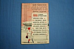 1966 San Francisco Giants program vs. Phillies 5-29-1966 unscored ex