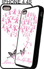For Apple IPhone 4s 5s 7 8 X  Pink White Tree Breast Cancer Ribbon Phone Case 5