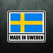 Made In Sweden Vinyl Bumper Sticker Decal Sport Car Swedish Flag fits Volvo Saab