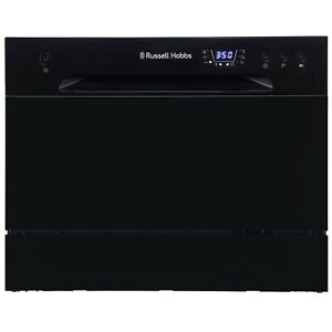 Russell Hobbs RHTTDW6B Black Table Top Dishwasher with 6 Programmes & 6 Settings