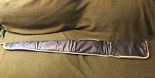 "Vintage RIFLE CASE Sleeve Sock Faux Leather Brown Gun 52"" 505 50 Shotgun Hunting"