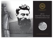 2015 10C NED KELLY 1/10OZ SILVER PROOF IN CARD