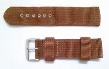 Correa de Nylon para Reloj - 22 mm - Hebilla De Metal - Marron Militar CMILIM22