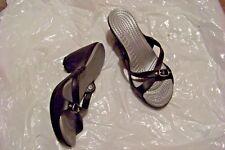 womens black cross strap heels shoes size 9