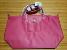 Longchamp Le Pliage Neo Medium Pink Crossbody Tote Bag Receipt