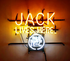 "18""x14""JACK LIVES HERE Neon Sign Light Beer Bar Pub Home Room Wall Decor Gift"
