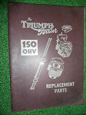 TRIUMPH T15 TERRIER ILLUSTRATED SPARE PARTS MANUAL 150cc OEM #1 T15-101>> 1953