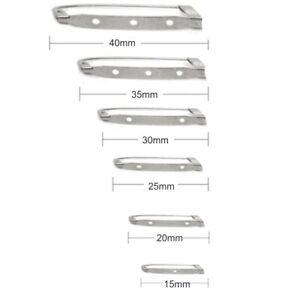 STEEL BROOCH BACK PINS 15mm 20mm 25mm 30mm 35mm & 40mm BAR PIN BADGE CL2