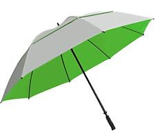 "Sun Tek 68 UV Protection Wind Cheater Vented Canopy Umbrella Silver/Green"""