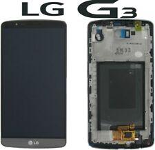 Pantalla COMPLETA con marco para LG G3 LCD+TACTIL COLOR GRIS ENVIO 24 HORAS
