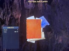 Halloween Plan Bundle 10x Plans Fallout 76 PS4