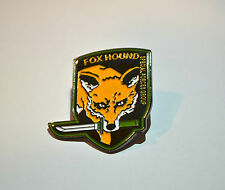 Metal Gear Solid Fox Hound Logo Metal Pin - Snake Phantom Pain 2 3 4 V