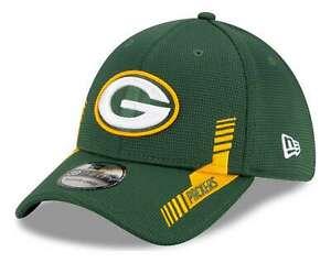 New Era - NFL Green Bay Packers 2021 Sideline Home 39Thirty Stretch Cap - Grün