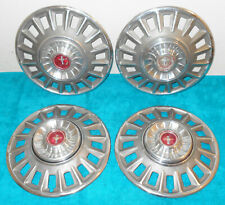 1968 Mustang Fastback Coupe Convertible ORIG DELUXE WHEEL COVERS HUB CAPS SET