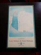 Samivel rarissime affiche état parfait 1982 Ecole Haute Montagne Chamonix cadre