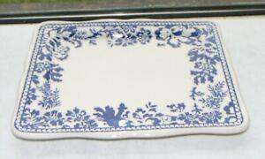 Masons Blue Batik Sandwich Tray 23cm by 18c Celebrating 200 Years of Masons 1996