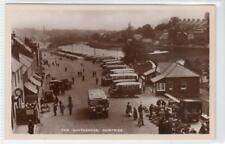 More details for the whitesands, dumfries: dumfriesshire postcard with motor buses (c39635)