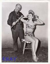 Gale Robbins busty leggy VINTAGE Pho  Jeff Davis King Of Hoboes Of America Inc