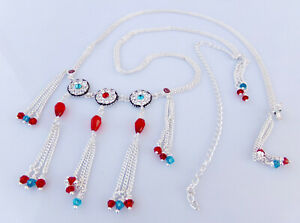 Ethnic Hip Waist Silver Belt Indian Women Lehnga Choli Chain Kamr Bandh Jewelry