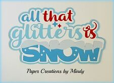 CRAFTECAFE MINDY WINTER SNOW DIECUT premade paper piecing TITLE scrapbook page
