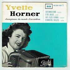 Yvette HORNER POCHETTE Vide 45T EP ACCAREZZAME -T'ES JOLIE -ILES SAMOA PATHE 133