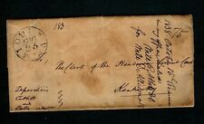 "1838 ""MIDDLH. VA"" Middleburg 3pg TRIPLE Rate Deposition with Loudoun paper seal"