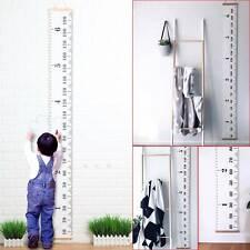 Wooden Kids Growth Height Chart Ruler Children Room Decor Wall Hanging Measure