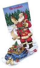 dimensions cross stitch kit checking his list stocking christmas - Cross Stitch Christmas Stocking Kits