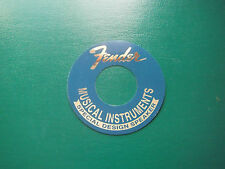 "Fender Speaker Label Blue & Chrome 2""5/8"