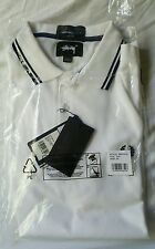 Fred Perry x Stussy Polo Shirt Medium WHITE BLUE NEW NWT AUTHENTIC LARGE L RARE