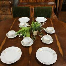 ROSENTHAL kaffeeservice teller , Classic Rose, Sanssouci Royal Gold, Weiß, 16tlg