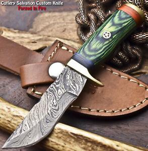 Cutlery Salvation Handmade Damascus Steel Blade Miniature Knife