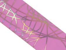 Transfer Folie Transferfolie Violett Lines 30cm Lang Nailart Stamping  #701-16