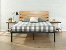 Full Size Wood Headboard Solid Bed Platform Modern Set 4 Mattress Metal Frame