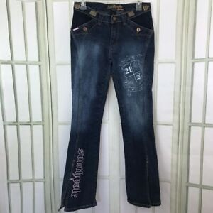 South Pole Womens Flare Jeans Size 7 Embellished
