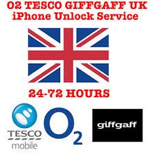 O2 TESCO GIFFGAFF UK UNLOCK SERVICE IPHONE 4 4S 5 5S SE 6 6+ 6S+ 7 7+ 8 8+ X