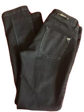 SERFONTAINE USA Sweetheart Drainpipe Black Skinny Ankle Jeans 27 Waist 30 Inseam