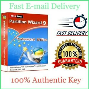 MiniTool Partition Wizard 9 PRO - Lfietime Activation Key - Full Version -E-mail