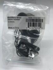 Genuine Blackberry Wired HDW-14322-003 Stereo Headset Earphone New