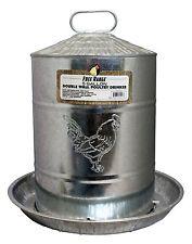 Galvanized Metal 5 Gallon Chicken Water Fountain - Poultry Drinker - 186934