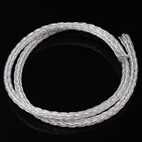 3.28ft/1m High Purity Teflon Silver OCC Wire Speaker Cable AUDIO Cord 8AG AWG15