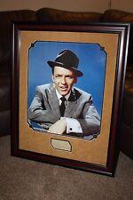 Vintage FRANK SINATRA Signed Framed Matted Autograph HUGE 23x29 Display JSA LOA