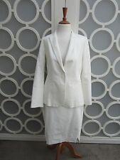 Veronika Maine: Womens White Blazer Jacket And Skirt Work Set, Size 10