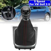 PER VW VOLKSWAGEN GOLF V VI PLUS JETTA POMELLO DEL CAMBIO LEVA 5 MARCE CUFFIA