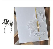 Magnolias Flower  Metal Cutting Dies Stencils Scrapbooking Paper Card Embossing