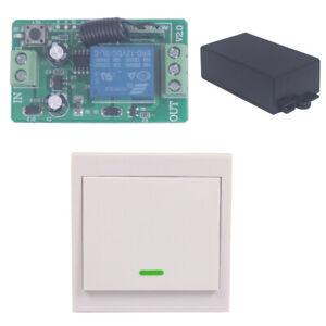 Home 12V 10A Relay Wall On/Off Remote wireless Switch Transmitter+ Receiver