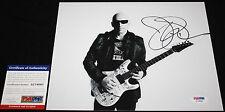 WICKED Joe Satriani 8 x 10 Guitar God. Chickenfoot, Proof, PSA/DNA AC54065